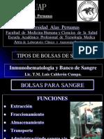 Bolsas de Sangre Banco - UAP 3