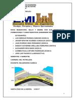 Informe Roca Reservorio, Sello y Madre y Sus Caracteristicas