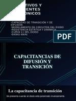 Dispositivos electrónicos (capacitancia de difusión)