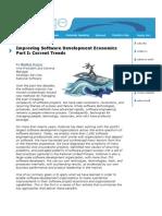 Improving Software Development Economics Par Ti