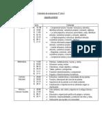 Calendaria de Pruebas 3° A, segundo semestre