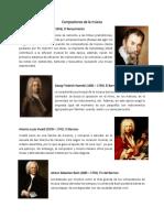 Compositores de La Música