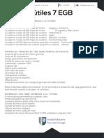 Lista de Útiles 7 EGB 2018 - 2019 UE GonzagaF