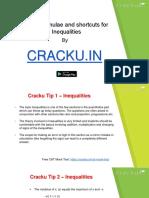 Inequalities Formulas for CAT PDF