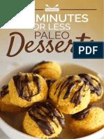10 Minutes or Less Paleo Desserts