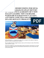 Shameful Homecoming for Musa Aman