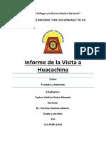 Propuestas Para Mejorar El Turismo en La Laguna de Huacachina