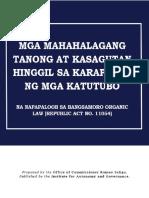 Karapatan ng mga Katutubo na napapaloob sa BOL