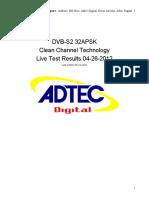 DVB Live test Results