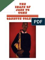 Art Hornett Coleman the Shape of Jazz to Come