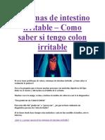 Síntomas de Intestino Irritable PDF GRATIS