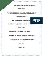 Educacion Para La Salud Yoli