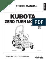 Kubota z723 Mower Operators Manual