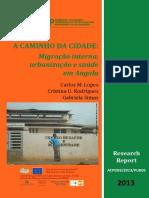 A Caminho Da Cidade Migração Interna Angola