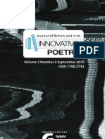 Journal of British and Irish Innovative Poetry 02_02 (Contents and Abstracts)