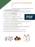 Curso de Preparación y Regularización de MATEMÁTICAS Para Niños de 6