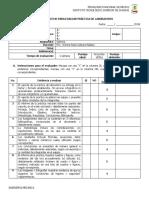 Lista de Cotejo - Práctica de Laboratorio