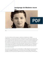 Le Dernier Témoignage de Madame Veuve Abane