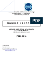 MODULE HANDBOOK - Applied Marketing Strategies