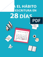 Crea El Hábito de La Escritura en 28 Días - Sinjania