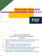 13. MATERI 8 - METODE STERILISASI MENURUT FARMAKOPE INDONESIA EDISI III & IV.pptx