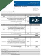 Commercial Proposal for Sophos - June 1st 2018