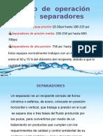 El rango  de  operación de  los  separadores.pptx