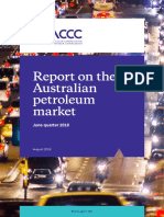 Report on the Australian Petroleum Market June Quarter 2018