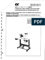 Brother CB3-B917 BA-10 Parts Book