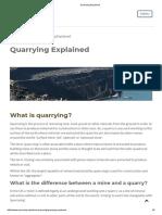 Quarrying Explained