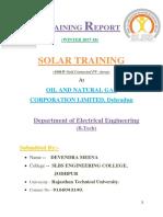 Solar Training at ONGC,Dehradhun