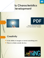 Creativity Characterstics