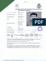 NISM 5-A Provisional Certificate