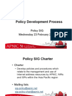 APNIC31 Policy Development Chair