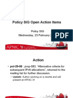 APNIC31 Policy Open Actions