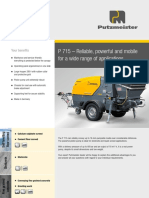 Putzmeister-Concrete Technology-Mortar-P715 TD, TE, SD