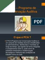 PCA – Programa de Conservação Auditiva