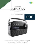 Saregama Carvaan User Manual 2.1