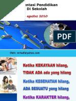 Implementasi Pendidikan Karakter Di Sekolah-Sidoarjo 4 Agt 2010 PANJANG