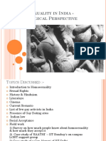 Homosexuality in India Sociological Perspective