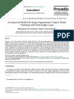 An Improved Method for Image Segmentation Using K-Means Clustering with Neutrosophic Logic
