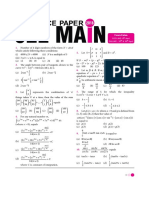 JEE-Mains Paper With Solution-2018