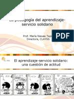 La Pedagogía Del -Aprendizaje Servicio Solidario-