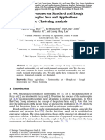 Fuzzy Equivalence on Standard and Rough Neutrosophic Sets and Applications to Clustering Analysis