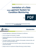 Implementation of a Data Management System for Condition
