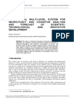 INTELLECTUAL MULTI-LEVEL SYSTEM FOR NEURO-FUZZY AND COGNITIVE ANALYSIS AND FORECAST OF SCIENTIFICTECHNOLOGICAL AND INNOVATIVE DEVELOPMENT
