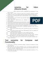 Test Scenarios for Inbox Functionality
