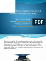 3 things about an education loan most students are unaware about.pptx
