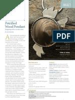 Conical Petrified Pendant