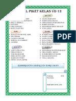 Daftar Piket Kelas Vii